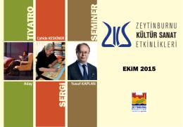 Ekim 2015 - Zeytinburnu Kültür Sanat