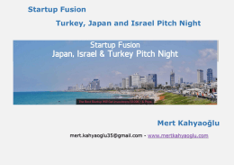 Startup Fusion Turkey, Japan and Israel Pitch Night Mert Kahyaoğlu