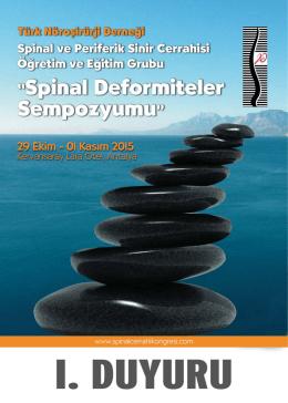 Spinal duyuru.fh11 - Türk Nöroşirurji Derneği Spinal ve Periferik