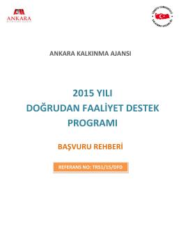 2015 YILI DOĞRUDAN FAALİYET DESTEK PROGRAMI