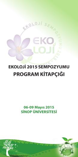 program kitapçığı - ekoloji 2015 vı ulusal ekoloji sempozyumu