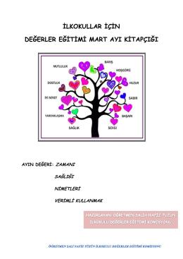 Değerler Eğitimi Mart Ayı Kitapçığı - İlkokul