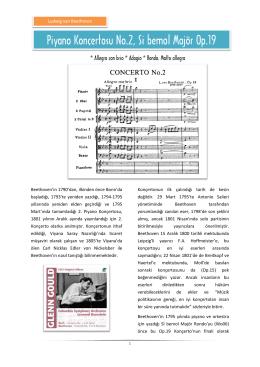 Piyano Konçertosu No.2, Si bemol Majör Op.19