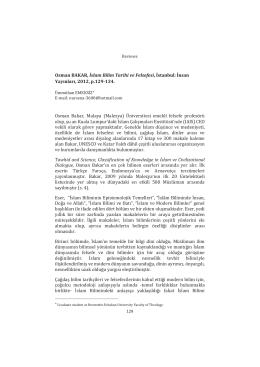 İslam Bilim Tarihi ve Felsefesi by O. Bakar