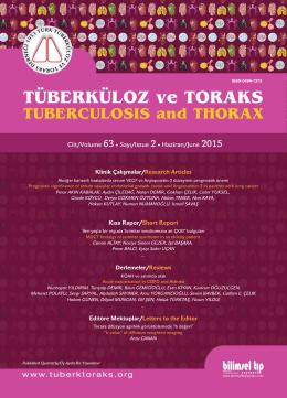 2015-2 kapak.eps - Tuberkuloz ve Toraks Dergisi