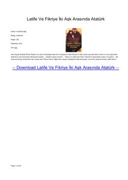 Latife Ve Fikriye İki Aşk Arasında Atatürk (İsmet