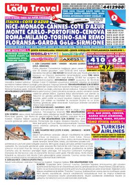 ITALYA COTE D`AZUR THY Venedi