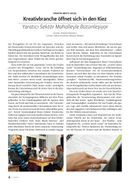 Artikel im Wrangelkiezblatt, Creative meets Social, 2014