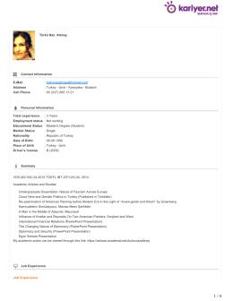 Türkü Naz Altınay Contact Information E-Mail