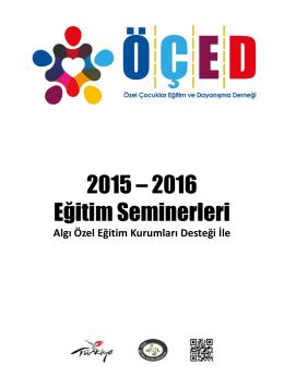 2015 – 2016 Eğitim Seminerleri