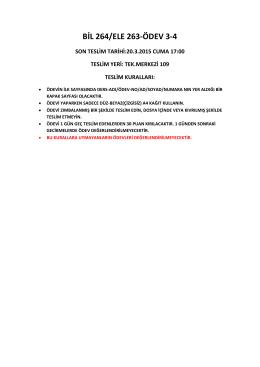 BİL 264/ELE 263-ÖDEV 3-4