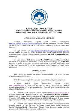 kırklarelġ ünġversġtesġ