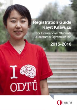 Registration Guide Kayıt Kılavuzu 2015-2016