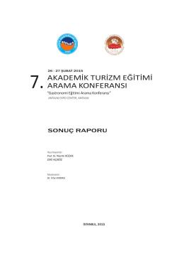 vıı. akademik turizm eğitimi arama konferansı