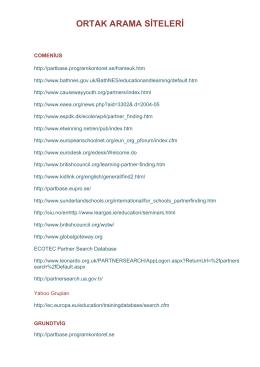 Ortak Arama Siteleri (PDF Dokümanı)