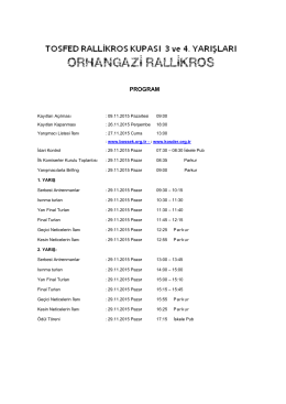 2015-Orhangazi RalliKros Program