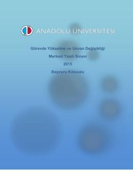 tıklayınız - Anadolu Üniversitesi Sınav Hizmetleri
