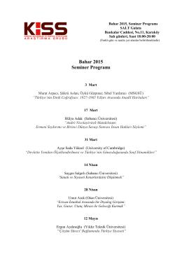 Bahar 2015 Seminer Programı