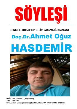 Doç.Dr.Ahmet Oğuz HASDEMİR