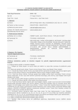 v1 vagon onarım hizmeti - Türkiye Vagon Sanayi A.Ş.
