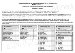 Musterstimmzettel für die Ausländerbeiratswahl