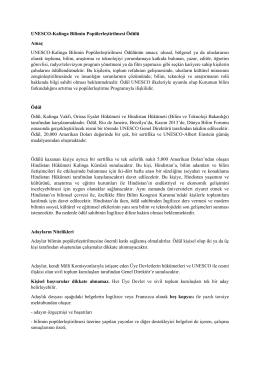 UNESCO-Kalinga Bilimin Popülerleştirilmesi Ödülü Amaç UNESCO