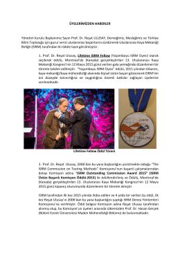 ISRM ödül