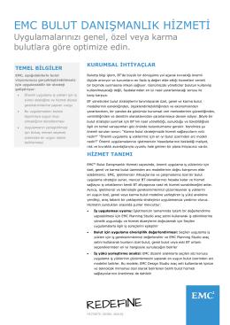 H8618.7 EMC Bulut Danışmanlık Hizmeti