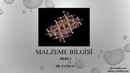 Ders 1 - Yrd.Doç.Dr.Fatih AY