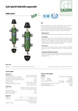 Çok işlevli hidrolik separatör