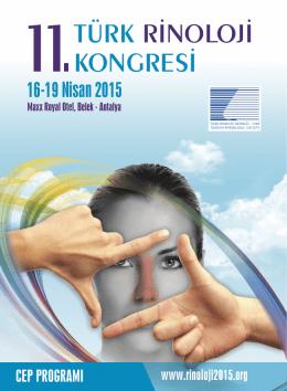 11. Türk Rinoloji Kongre Cep Programı
