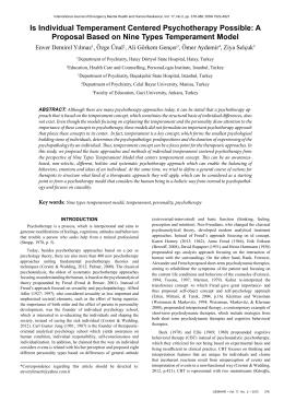 A Proposal Based On Nine Types Temperament Model