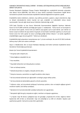 karabük üniversitesi engelli birimi - istanbul büyükşehir belediyesi