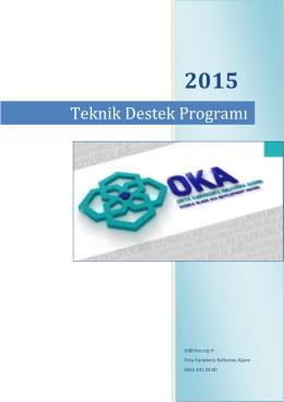 2015 yılı teknik destek programı