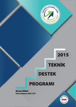 2015 DESTEK PROGRAMI - Çukurova Kalkınma Ajansı