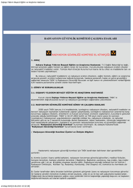 3.radyasyon güvenliği komitesi el kitapçığı