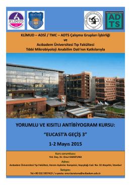 Duyuru ve Program - Türk Mikrobiyoloji Cemiyeti
