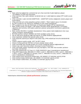 Telkolink | CLR-IES-82P Endüstriyel POE Switch Şartnamesi