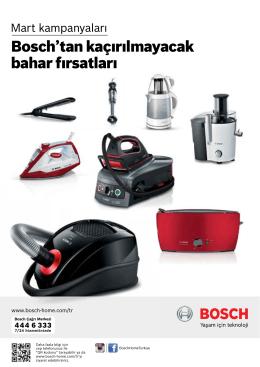 Bosch`tan kaçırılmayacak bahar fırsatları