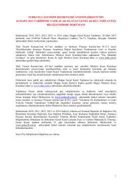 Turkcell Genel Kurul Bilgilendirme Dokumanı 27022015