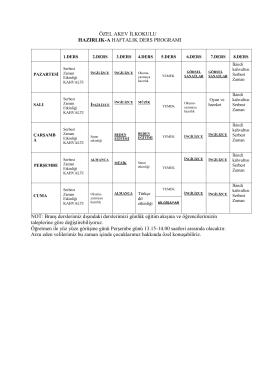 2015-2016 eğitim-öğretim yılı ders programı