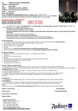 HEPKON TOWER HOTEL - Türkiye Voleybol Federasyonu
