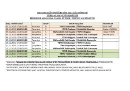 MAÇ TARİHİ-SAATİ GRUP HAKEMLER 02.11.2015-17.00