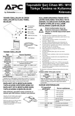 Taşınabilir Şarj Cihazı M5 / M10 Türkçe Tanıtma ve
