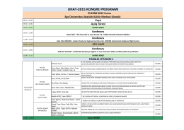 uhat-2015 kongre programı