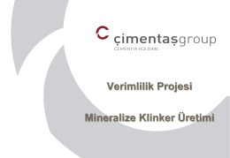 Mineralize Klinker Üretimi