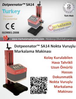 Dotpeenator™ SA14 Nokta Vuruşlu Markalama Makinası