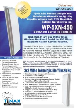 Tinax WP5XN450 Datasheet
