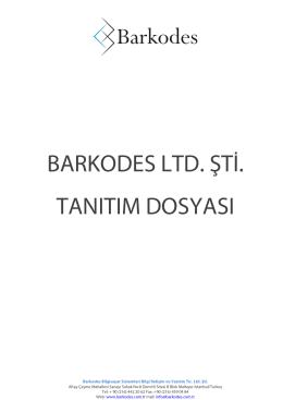 Barkodes Tanıtım Dosyası