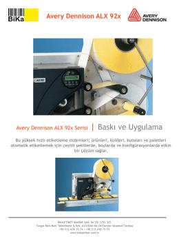 Avery Dennison ALX 92x